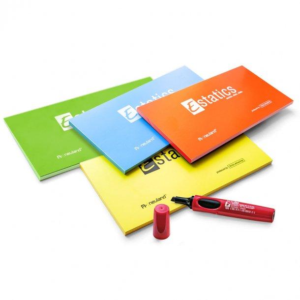 Estatics L i bundt med 4 flotte farver og 1 SlickyOne gratis