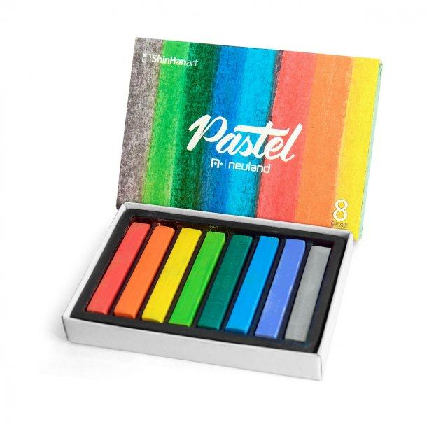 Flotte Neuland Pastel kridt, sæt med 8 farver